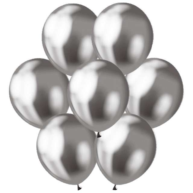 """Balony """"Classic"""", Godan, metalik grafitowy, 12"""", 7 szt"""