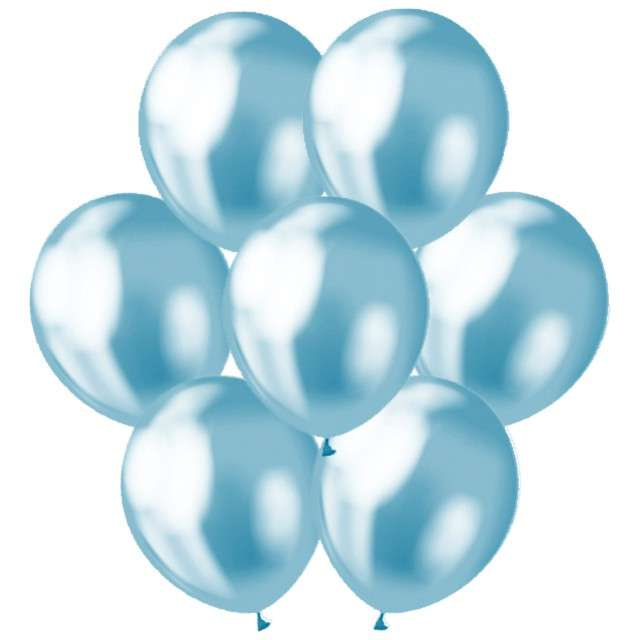 Balony Classic Godan Metalik niebieski 12 7szt