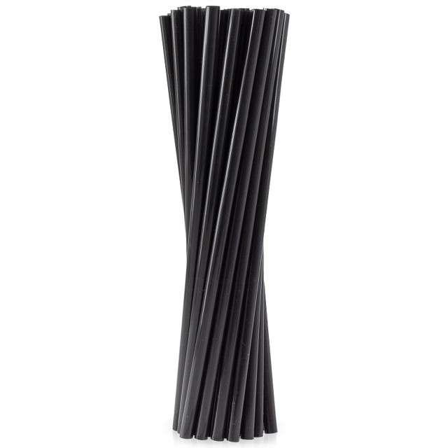 Słomki proste grube BIO GODAN 24cm czarne 100szt