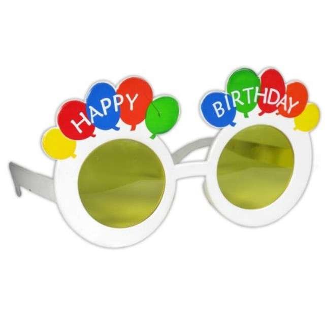 "Okulary party ""Happy BIrthday"", kolorowe, Tamipol"