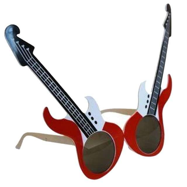 """Okulary party """"Elektryczne gitary"""", czerwone, Tamipol"""