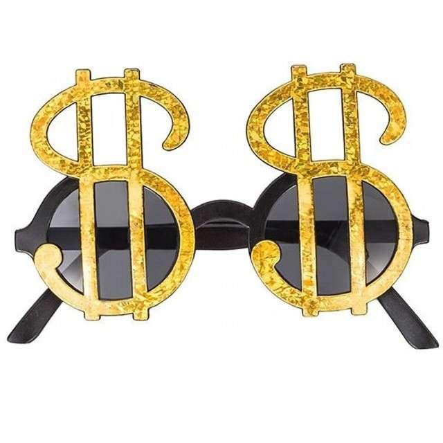 """Okulary party """"Dolary"""", złote, Tamipol"""