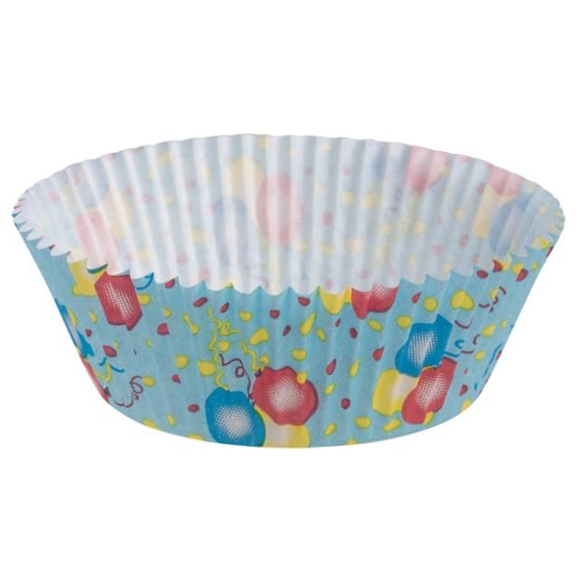 "Foremki na muffinki ""Baloniki"", niebieski, Demmler, 60 szt"