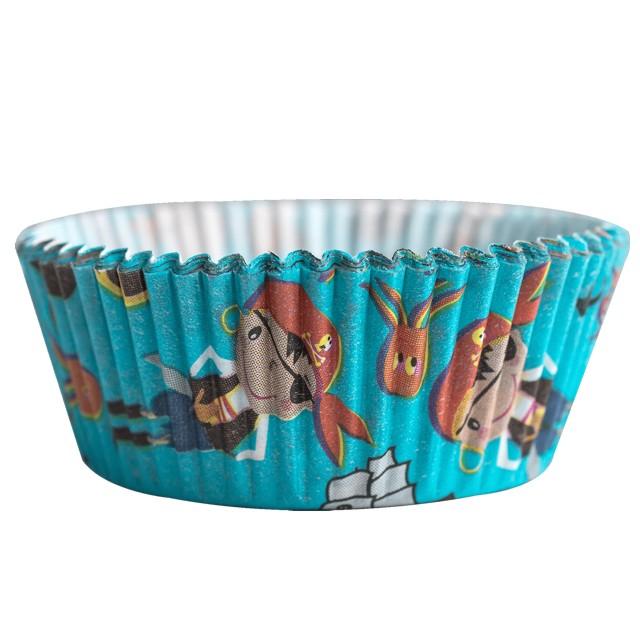 "Foremki na muffinki ""Piraci"", niebieski, Demmler, 60 szt"