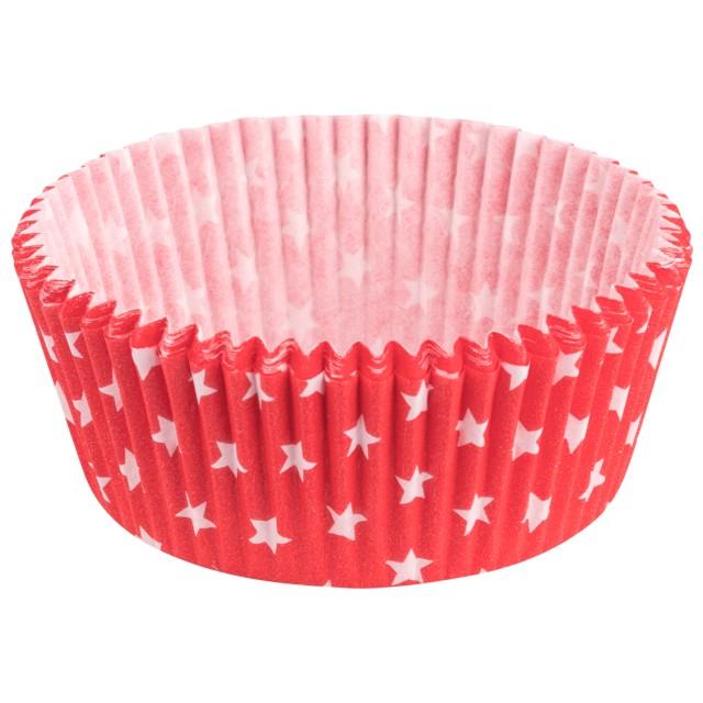 Foremki na muffinki Gwiazdki czerwony Demmler 60szt