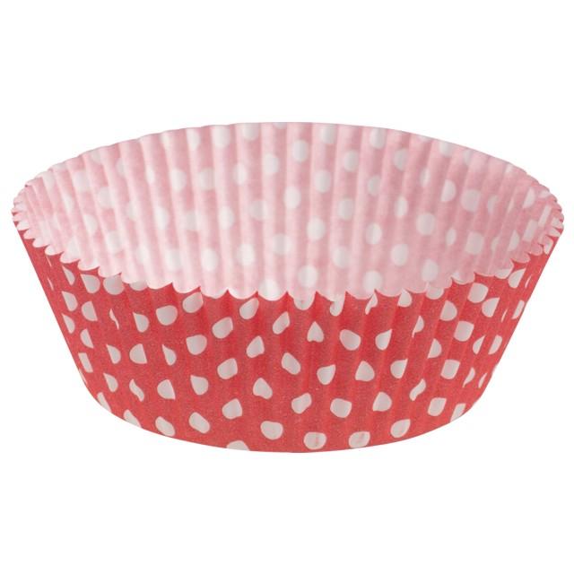 """Foremki na muffinki """"Białe kropki"""", czerwony, Demmler, 60 szt"""