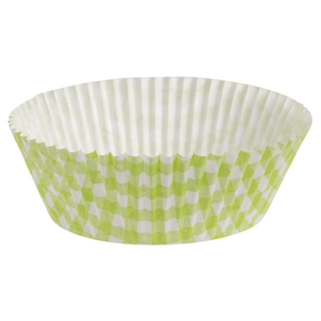 Foremki na muffinki Zielone w kratkę Demmler 60szt