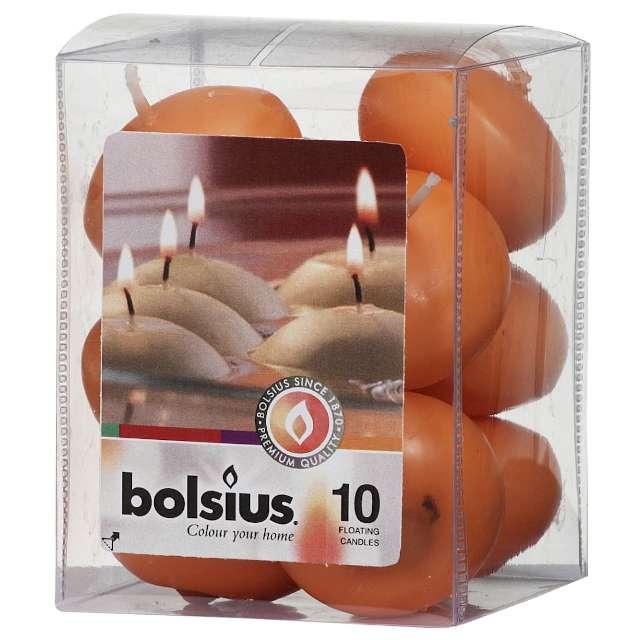"""Świeca """"Pływająca"""", pomarańczowe, Bolsius, 30/45 mm, 10 szt"""