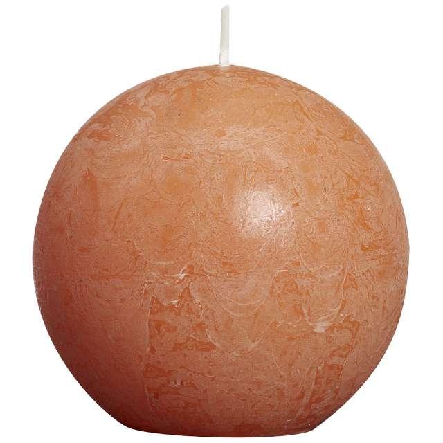 "Świeca ""Rustic Kula"", 80mm, pomarańczowa, Bolsius"