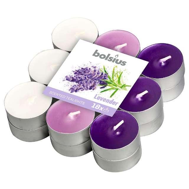 """Podgrzewacz zapachowy """"Lawendowy"""", fioletowy, Bolsius, 18 szt"""