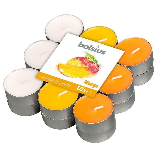 """Podgrzewacz zapachowy """"Mango"""", pomarańczowy, Bolsius, 18 szt"""
