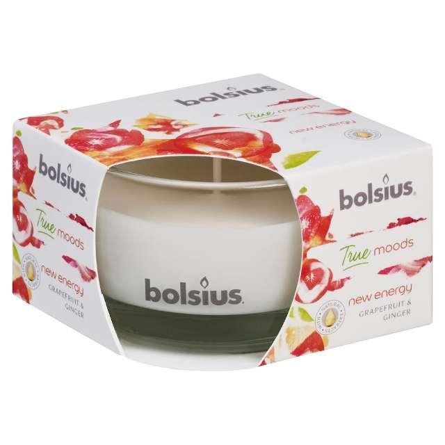 """Świeca zapachowa w szkle """"Grejpfrutowo-imbirowa"""", Bolsius, 8,4cm"""