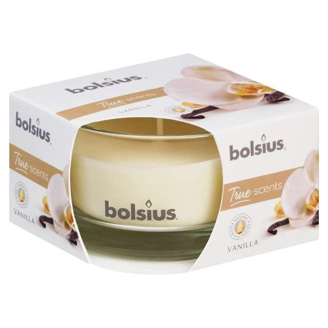 """Świeca zapachowa w szkle """"Wanilla"""", Bolsius, 8,4cm"""