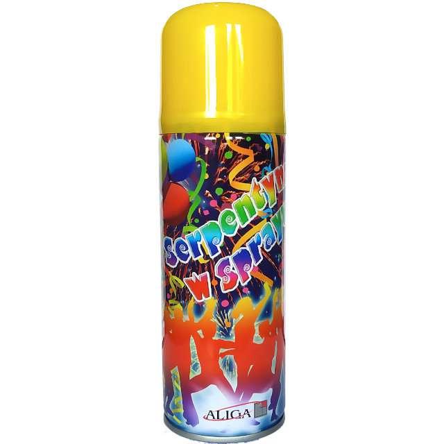 """Serpentyna w sprayu """"Classic"""", żółta, Aliga, 250ml"""