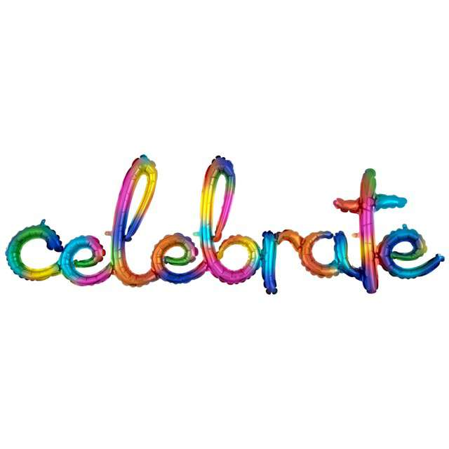 """Balon foliowy """"Napis celebrate"""", Amscan, 58"""", SHP"""