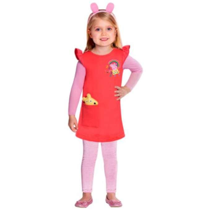 Strój dla dzieci Świnka Peppa Amscan rozm. 4-6 lat