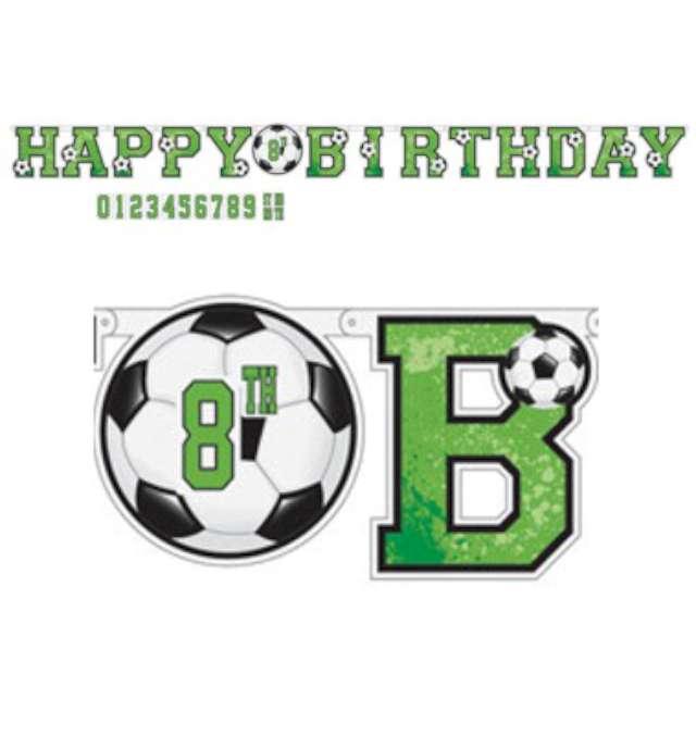 "Baner ""Happy Birthday - piłka nożna"", Amscan, 320 cm"