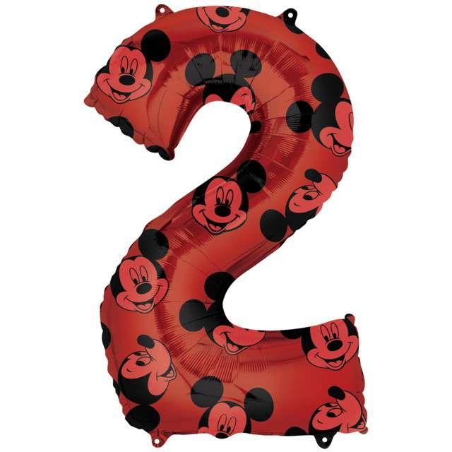 "Balon foliowy ""Cyfra 2 Mickey mouse"", Amscan, 26"", SHP"