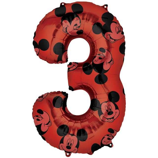 "Balon foliowy ""Cyfra 3 Mickey mouse"", Amscan, 26"", SHP"