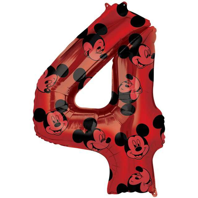 "Balon foliowy ""Cyfra 4 Mickey mouse"", Amscan, 26"", SHP"