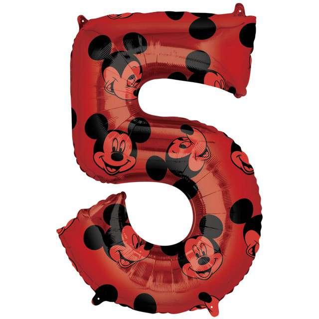 "Balon foliowy ""Cyfra 5 Mickey mouse"", Amscan, 26"", SHP"
