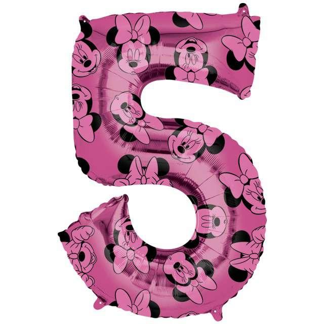 """Balon foliowy """"Cyfra 5 Minnie mouse"""", Amscan, 26"""", SHP"""