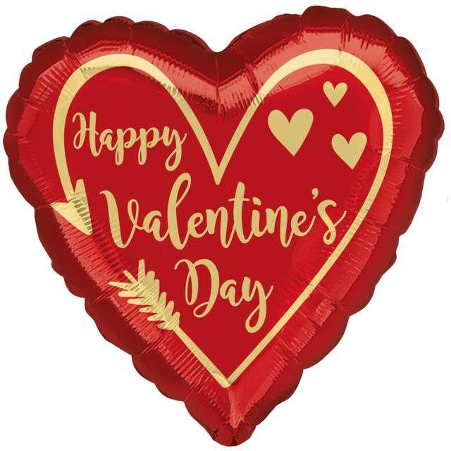 "Balon foliowy ""Walentynki serce"", Amscan, 17"", HRT"