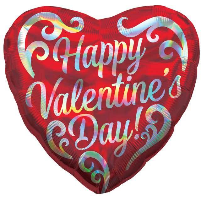 "Balon foliowy ""Walentynki serce"", Amscan, 18"", HRT"