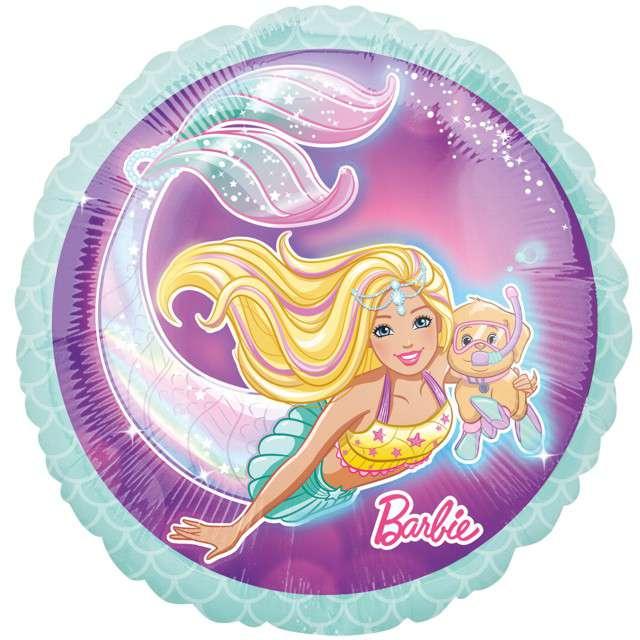 """Balon foliowy """"Barbie syrenka"""", Amscan, 17"""", RND"""
