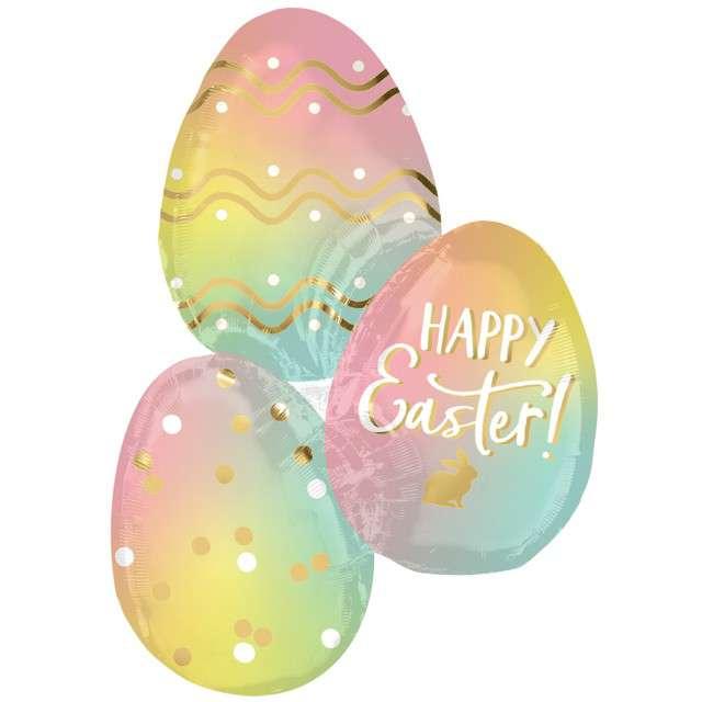 """Balon foliowy """"Wielkanoc jajka"""", AMSCAN, zestaw"""