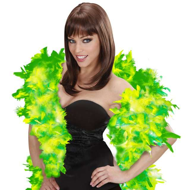 "Boa ""Deluxe"", zielony mix, Widmann, 65g, 180 cm"