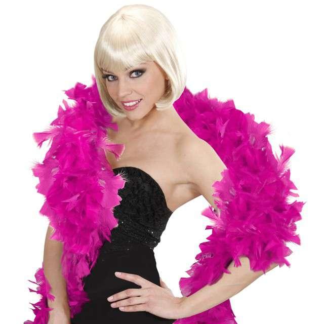 """Boa """"Deluxe"""", różowy ciemny, Widmann, 65g, 180 cm"""