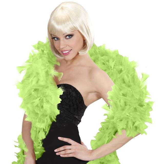 "Boa ""Deluxe"", zielony jasny, Widmann, 65g, 180 cm"