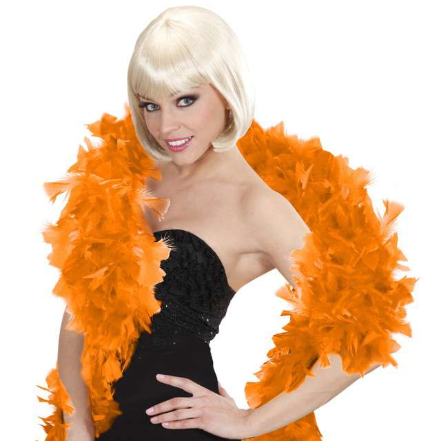 "Boa ""Deluxe"", pomarańczowy, Widmann, 65g, 180 cm"