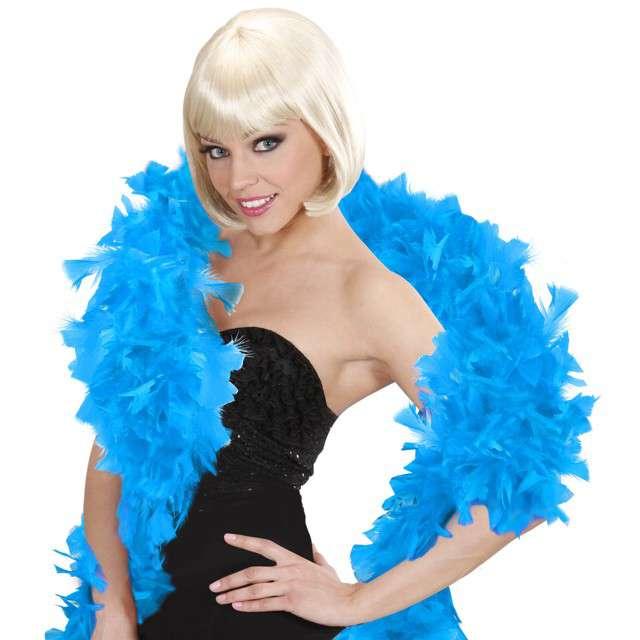 "Boa ""Deluxe"", błękitny, Widmann, 65g, 180 cm"