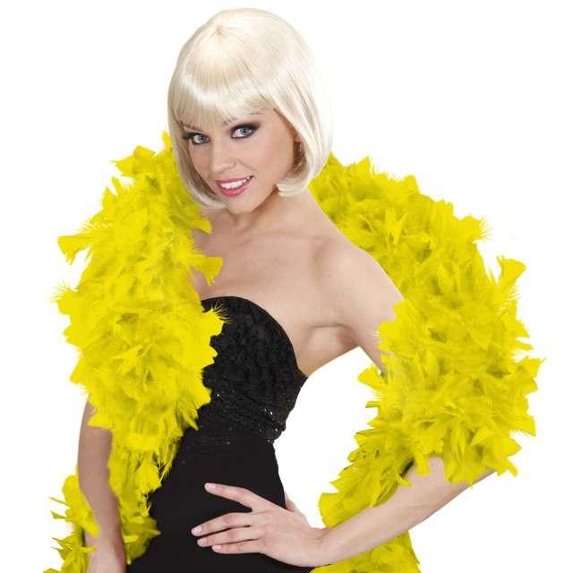 "Boa ""Deluxe"", żółte, Widmann, 65g, 180 cm"