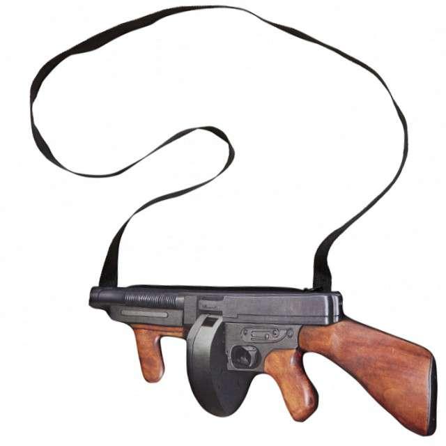 "Torebka party ""Karabin Tommy Gun"", Widmann, 36 cm"