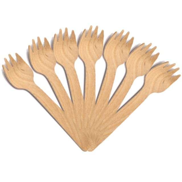 Widelce drewniane Classic naturalne Tamipol 10cm 10szt
