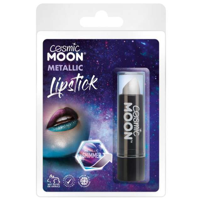 "Make-up party ""Pomadka Cosmic Moon Metalic"", srebrna, Smiffys, 5 g"