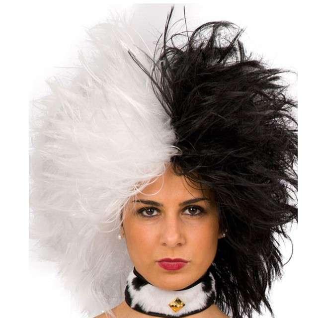 """Peruka party """"Cruella"""", czarno-biała, Carnival Toys"""