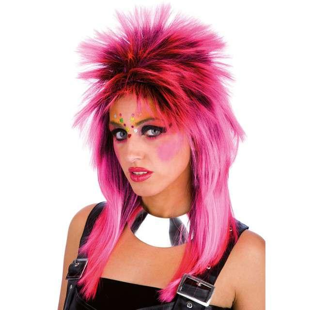 "Peruka party ""Punk"", różowa, Carnival Toys"