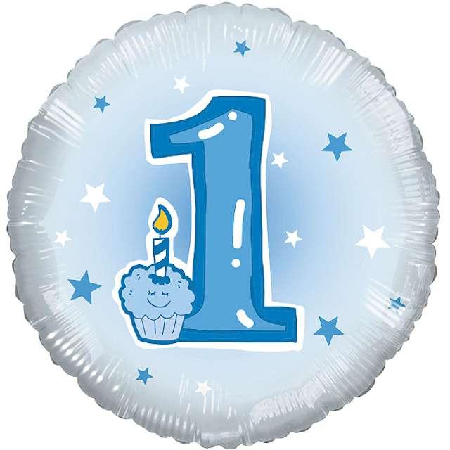 Balon foliowy Baby Shower - Roczek niebieski Adikbal 18