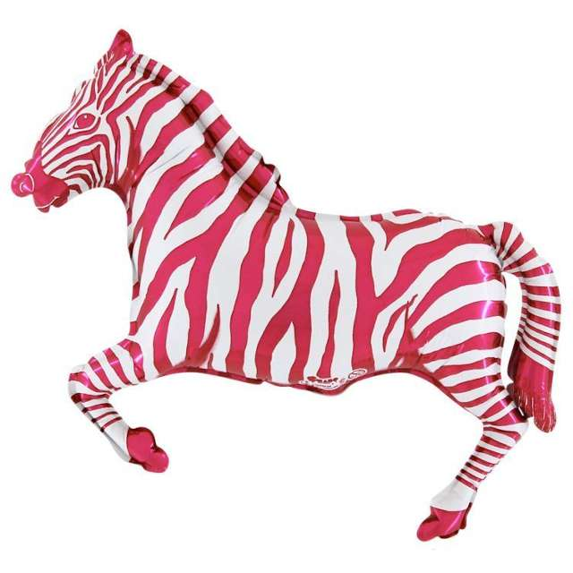 """Balon foliowy """"Zebra"""", różowy, 14"""", Grabo, SHP"""