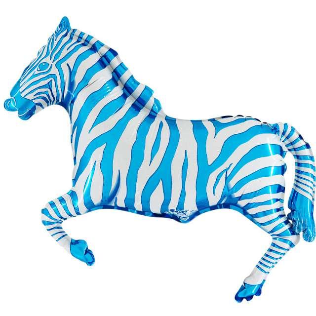 """Balon foliowy """"Zebra"""", niebieski, 14"""", Grabo, SHP"""