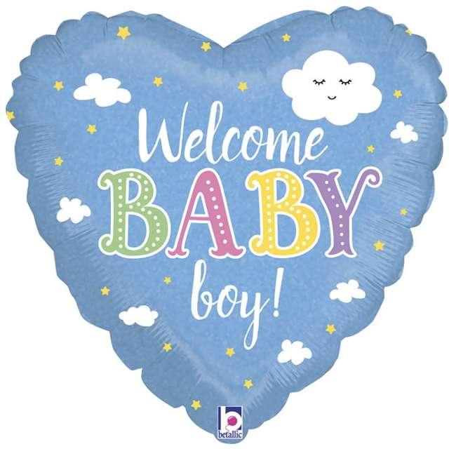 Balon foliowy Baby Shower - Welcome Baby Boy Grabo 18 HRT