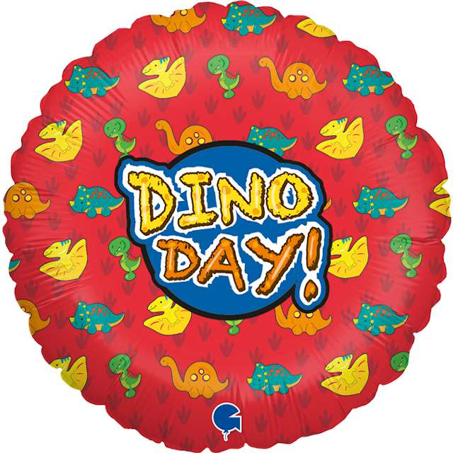 "Balon foliowy ""Dino Day"", Grabo, 18"", CIR"