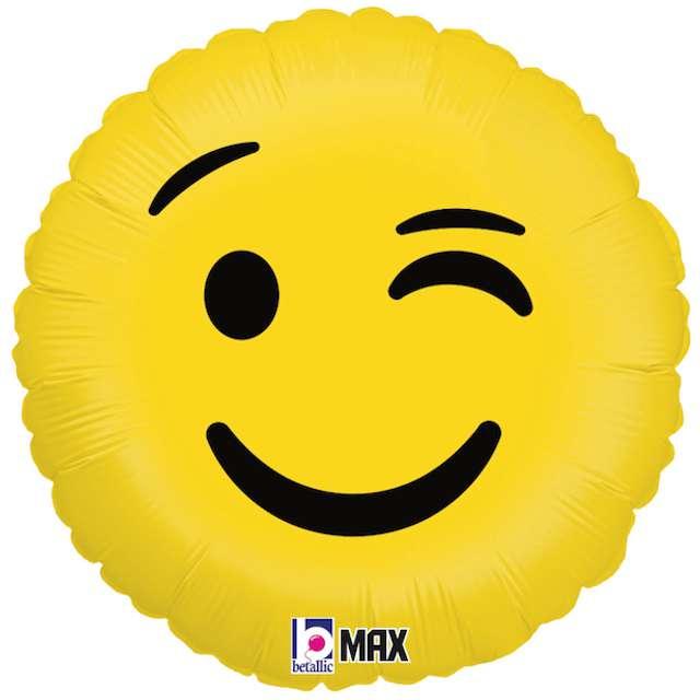 """Balon foliowy """"Emoji - Oczko"""", żółty, Grabo, 18"""""""