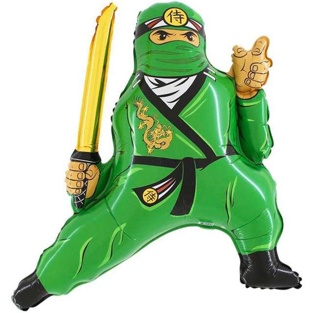 "Balon foliowy ""Ninja"", zielony, Grabo, 21"""