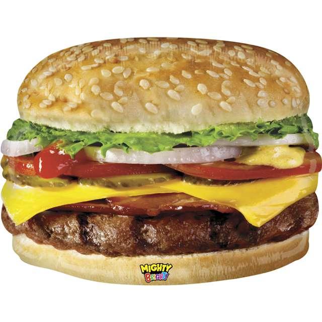 """Balon foliowy """"POTĘŻNY Cheeseburger"""", Grabo, 31"""", SHP"""