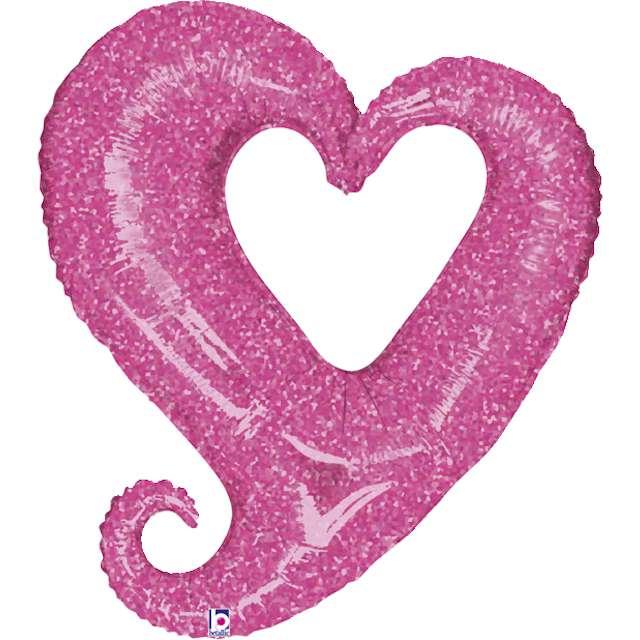 """Balon foliowy """"Serce splątane"""", różowy, Grabo, 37"""", SHP"""